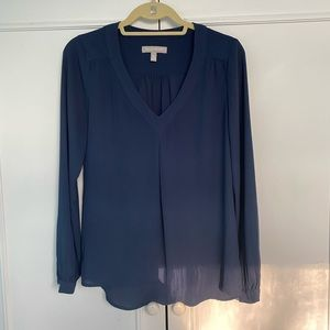 Banana Republic navy work blouse